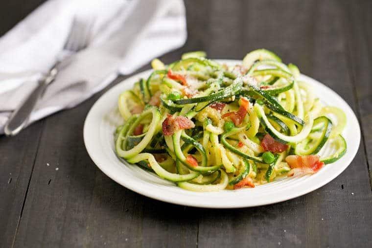 Keto dieet recept voor pasta carbonara
